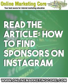 How to Find Sponsors on Instagram #InternetMarketing #Businesses, #Fashion, #FindSponsors, #Images, #Instagram, #InstagramChannel, #InstagramMarketing, #MakeMoney, #Photos, #SocialMediaMarketing, #Women, #Write Internet Marketing, Online Marketing, Social Media Marketing, List Of Brands, Find Instagram, More Instagram Followers, How To Make Money, How To Get, Press Kit