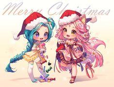 [+Video] Commission - Christmas Socks by Hyanna-Natsu on DeviantArt Kawaii Chibi, Cute Anime Chibi, Cute Anime Pics, Kawaii Anime, Hyanna Natsu, Pretty Drawings, Christmas Drawing, Christmas Illustration, Cute Anime Character