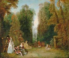 Jean-Antoine Watteau - the perspective