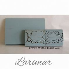 LARIMAR Mineral Paint! No sanding and no priming required! (furniture paint chalk paint) To purchase paint online go to Http://www.atticangelfurniture.com