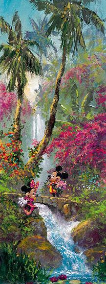 Disney Fine Art - Island Afternoon. Mickey and Minnie. Biggs Ltd. Gallery. Heirloom quality bridal, art, baby gifts and home decor. 1-800-362-0677. $750.
