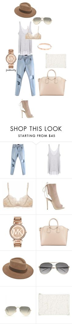 """Untitled #108"" by jadetuncdoruk ❤ liked on Polyvore featuring Enza Costa, Eberjey, MICHAEL Michael Kors, Givenchy, Larose, Witchery, Ray-Ban and Alexander Wang"