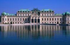 Pond in front of Oberes Belvedere, Schloss Belvedere, Landstrasse, Vienna, Austria