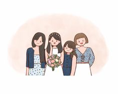 Excited to share this item from my shop: Custom friendship drawing - Bridemaids bestfriends portrait - Personalized gifts for friends - Sisterhood illustration - Birthday gifts Friends Illustration, Family Illustration, Cute Illustration, Friend Cartoon, Girl Cartoon, Cartoon Art, Doodle Drawings, Cartoon Drawings, Easy Drawings