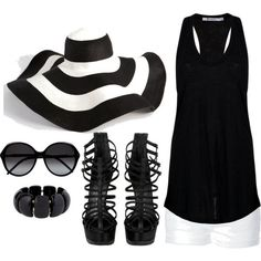 <3 this black and white outfit