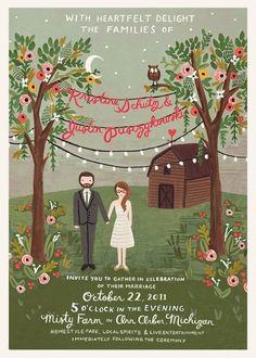 Kristine's amazing wedding invitations, designed by Rifle.                                                                                                                                                     More