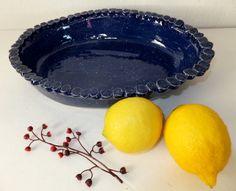 Large Handmade Ceramic Casserole Pan Dark by WildCrowFarmPottery, $62.00