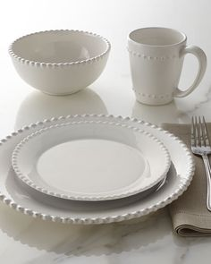 16-Piece Bianca Beaded-Edge Dinnerware - would like 2 sets