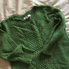 """LOFT 3/4 Sleeve Green Cable Knit Sweater Beautiful shade of green! Has 3/4 length sleeves, sweater measures almost 26"""" from top of shoulder to bottom. In great shape! Worn 2-3 times. 38% Rayon, 21% Wool, 18% Nylon, 16% Cotton, 7% Rabbit Hair. LOFT Sweaters Crew & Scoop Necks"""