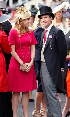 You know it's quite serious when the Princess brings her boyfriend as her official date to the Royal Ascot. Dave Clark dressed up for the occasion in a debonair top hat and a pink tie to match his girlfriend's fuchsia dress. (Photo by Max Mumby/Indigo/Getty Images)