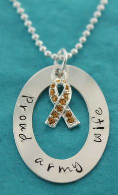 Proud Army Wife Hand Stamped Necklace $ 38.50