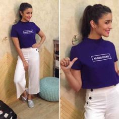 And shirts that let you get away with everything. 18 Outfits Alia Bhatt Wore In 2015 That You'll Want To Steal Indian Celebrities, Bollywood Celebrities, Bollywood Fashion, Bollywood Actress, Chic Outfits, Fashion Outfits, Fashion Trends, Trendy Outfits, Summer Outfits