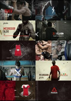 sports graphics - style frames - storyboards - by artist marcos vaz on Bechance #combatsports