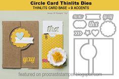 stampin up thinlits circle card | procrastistamper: Stampin' Up! EXCLUSIVE Thinlits Card Dies