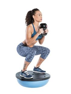 Give your lower body and core a double-whammy workout by taking your goblet squat on high. Do this as a primer for heavy squats or as a burnout after training legs. #workoutmotivationgirlsquats