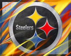 Pittsburgh Steelers Football Painting by Tony Rubino