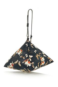 Givenchy|Triangle large clutch in printed leather|NET-A-PORTER.COM