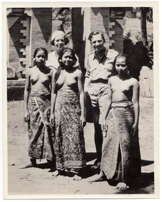 MERVYN LEROY & DORIS WARNER Honeymoon Cruise 1934 NUDE BALI WOMEN * Press Photo   eBay
