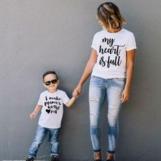 My Heart Is Full T-shirt: Mother & Son Matching Mommy And Me Shirt, Mommy And Son, My T Shirt, Mother Son Matching Outfits, Mom And Son Outfits, Mom Shirts, Cool T Shirts, T Shirts For Women, Outfits Madre E Hija
