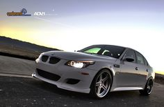 BMW M5 ... This is just about how I would want it, I think black wheels though!