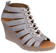 Dr. Martens Mona Wedge Women's Sandal - Burnished Grey