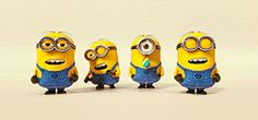 Minions! Love these guys! The boyfriend thinks they need their own show. Lol!