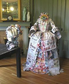 Why would you even waste your time one this?!  I mean it is kind of cool but first rainstorm and BOOM not more paper Victorian Dress.