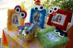 Elmo Party: Adorable Frame to set on table!