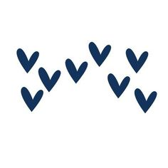 LittleLion Studio So Much Love Monochromatic Wall Decal Color: Navy Blue