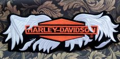 """XXL Harley Davidson """"Broken Wings"""" Embroidered Patch ~ Vintage Down Biker Wing Harley Davidson Gear, Harley Davidson Patches, Vintage Harley Davidson, Motorcycle Patches, Broken Wings, Embroidered Patch, Quilts, Bikers, Motorcycles"""