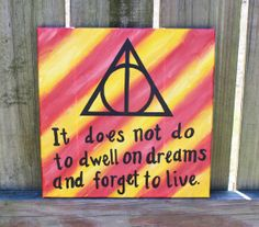 HARRY POTTER Deathly Hallows Quote Painting by FrostedDonutDesigns, $30.00