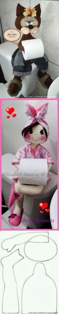 Куклы-держатели туалетной бумаги