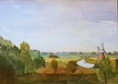 View from How Hill Norfolk Broads Original by JulianLovegroveArt