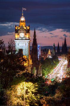 Balmoral Hotel Clocktower, Princes Street, Edinburgh, Scotland