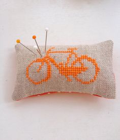 Dutch Bike Pincushion Amsterdam Orange by NellysLittleGifts, €5.00
