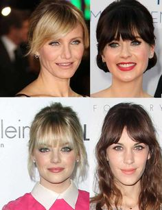 Fringes: Find the best hair style to match your face shape   Fashion, Trends, Beauty Tips & Celebrity Style Magazine   ELLE UK