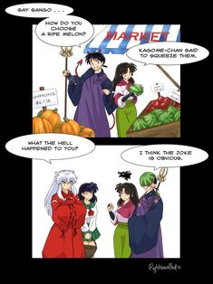 Yet another lame joke . by ~righteousred on deviantART ▪inuyasha▪ Inuyasha Memes, Inuyasha Funny, Inuyasha Fan Art, Kagome And Inuyasha, Aldnoah Zero, Lame Jokes, Miroku, Manga Comics, Anime Couples