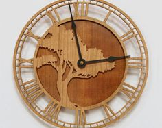Tree of Life Wood Wall Clock