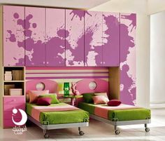 اجمل ديكورات غرف نوم اطفالى لسنه 2014