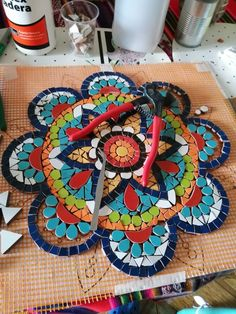 Mosaic Tile Designs, Mosaic Tile Art, Mosaic Artwork, Mosaic Diy, Mosaic Crafts, Mosaic Projects, Stone Mosaic, Mosaics, Mosaic Flower Pots