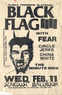 Must've been an awesome show back in the day! black flag / circle jerks - - ooooooooohh yeah, bey bey!