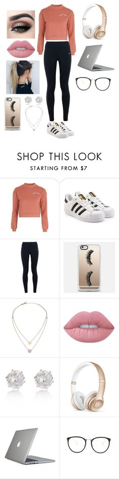 """Cute"" by taelar-severson ❤ liked on Polyvore featuring Topshop, adidas Originals, NIKE, Casetify, Michael Kors, Lime Crime, River Island, Beats by Dr. Dre, Speck and Linda Farrow"