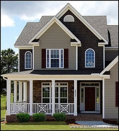 pictures of houses with new siding | Most Popular New Home Exteriors | Exterior Siding Types