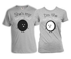 Funny Couple Shirts Husband And Wife Gifts His And Her Shirts Couple T Shirts Matching Outfits Better Half Mens Ladies Tee FAT-356-357