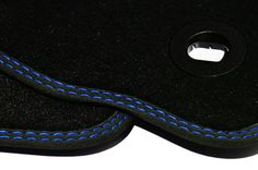 Blau-zwei-Naehte-Fussmatten-fuer-VW-Bora-Bj-1998-2005-Autoteppiche
