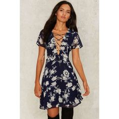 Lou Fit & Flare Dress ($68) ❤ liked on Polyvore featuring dresses, blue, floral fit-and-flare dresses, blue chiffon dress, blue floral dress, blue fit and flare dress and blue fit-and-flare dresses