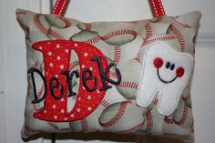 Personalized Tooth Fairy Pillow for Boys on Etsy, $22.50