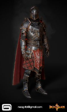 This is one of the main character armors I created for Gameloft's Iron Blade, MC Demonic Armor It is an epic armor rated by in-game rarity. Fantasy Armor, Dark Fantasy Art, Medieval Fantasy, Inspiration Drawing, Fantasy Inspiration, Knight In Shining Armor, Knight Armor, Epic Characters, Fantasy Characters