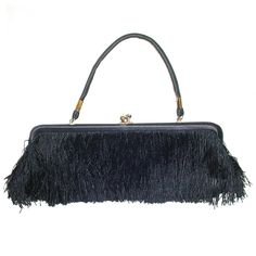 1960s Fringed Bag | From a collection of rare vintage handbags and purses at http://www.1stdibs.com/fashion/accessories/handbags-purses/