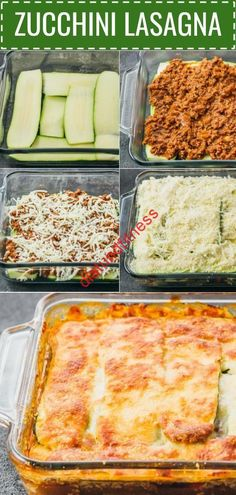 This easy zucchini lasagna is a great low carb and healthy alternative to your t. - This easy zucchini lasagna is a great low carb and healthy alternative to your t. This easy zucchini lasagna is a great low carb and healthy alterna. Zucchini Lasagne, Zucchini Noodle Lasagna, Zucchini Boats, Zuchinni Pasta, Potato Lasagna, Chicken Lasagna, Comidas Fitness, Comida Keto, Think Food
